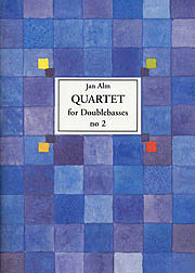 Jan Alm Quartet for double basses no 2  Cover